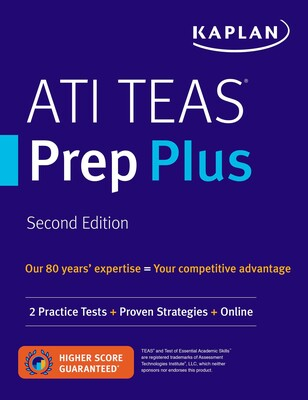 ATI TEAS Prep Plus Book By Kaplan Nursing Official