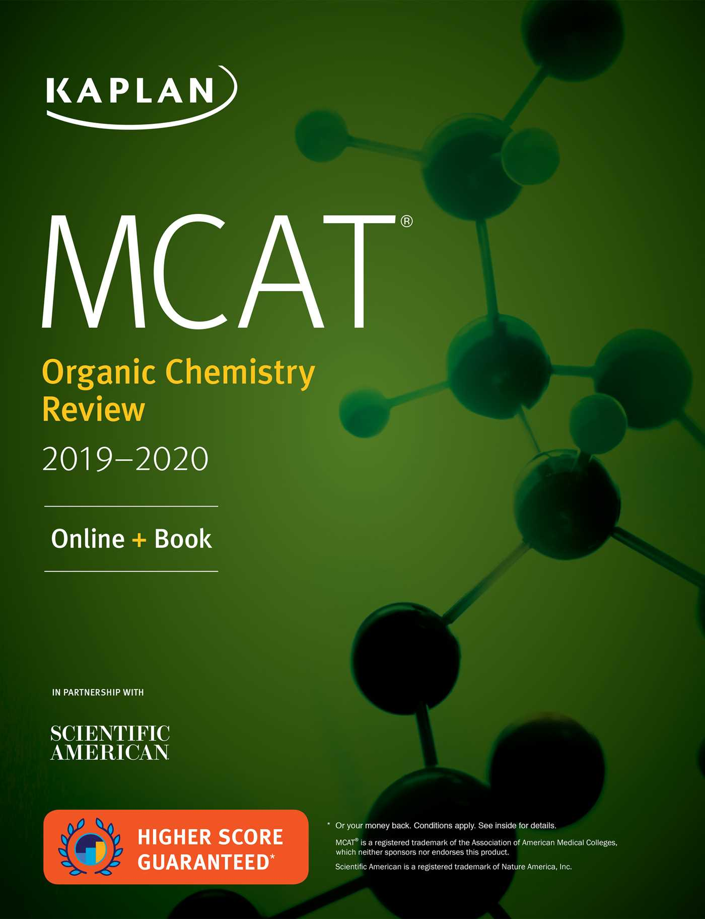 Book Cover Image (jpg): MCAT Organic Chemistry Review 2019-2020
