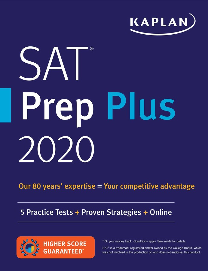 Best Sat Prep Book 2020.Sat Prep Plus 2020 Book By Kaplan Test Prep Official