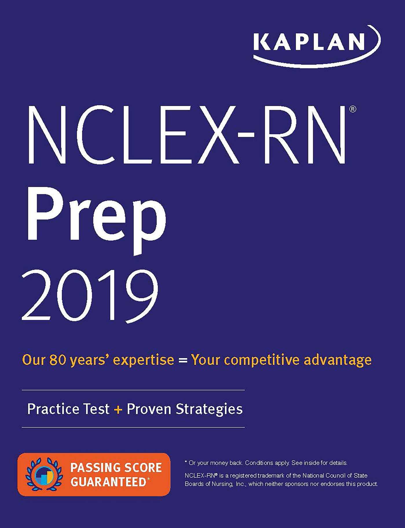 NCLEX-RN Prep 2019 | Book by Kaplan Nursing | Official