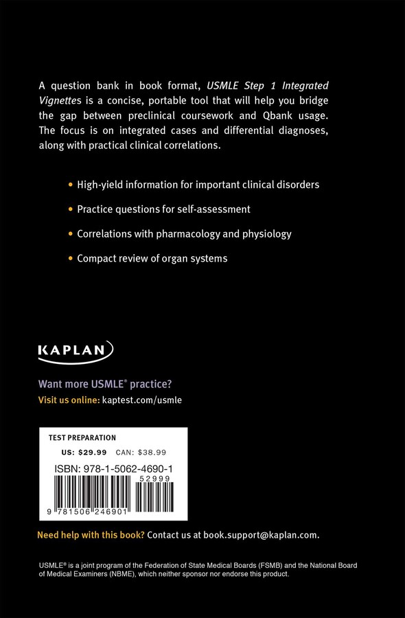 USMLE Step 1: Integrated Vignettes | Book by Kaplan Medical