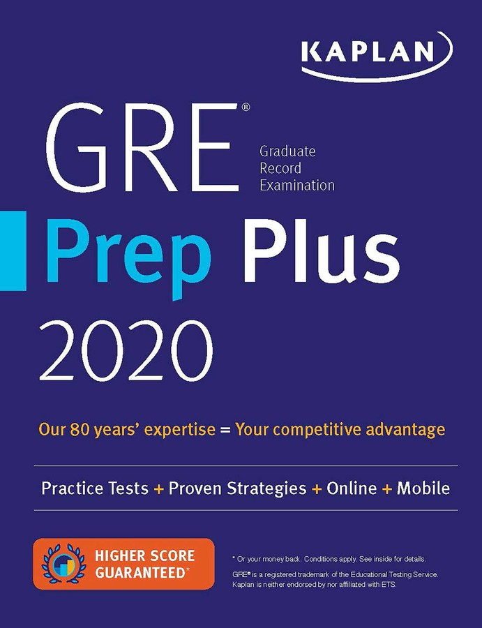 GRE Prep Plus 2020 | Book by Kaplan Test Prep | Official