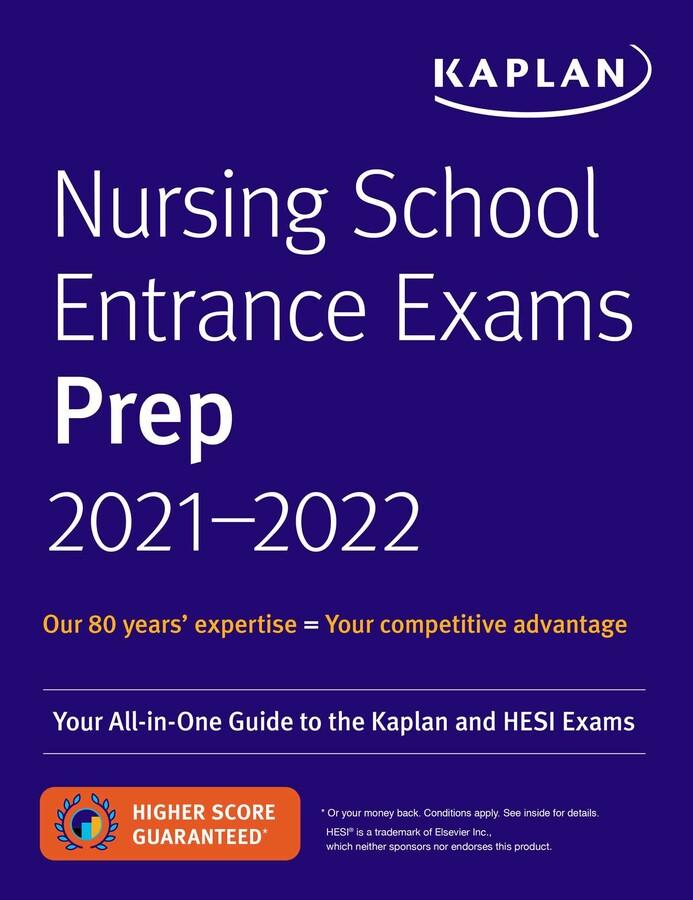 Nursing School Entrance Exams Prep 2021-2022   Book by ...