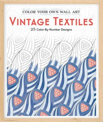 Color Your Own Wall Art Vintage Textiles