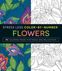 stress less color by number flowers