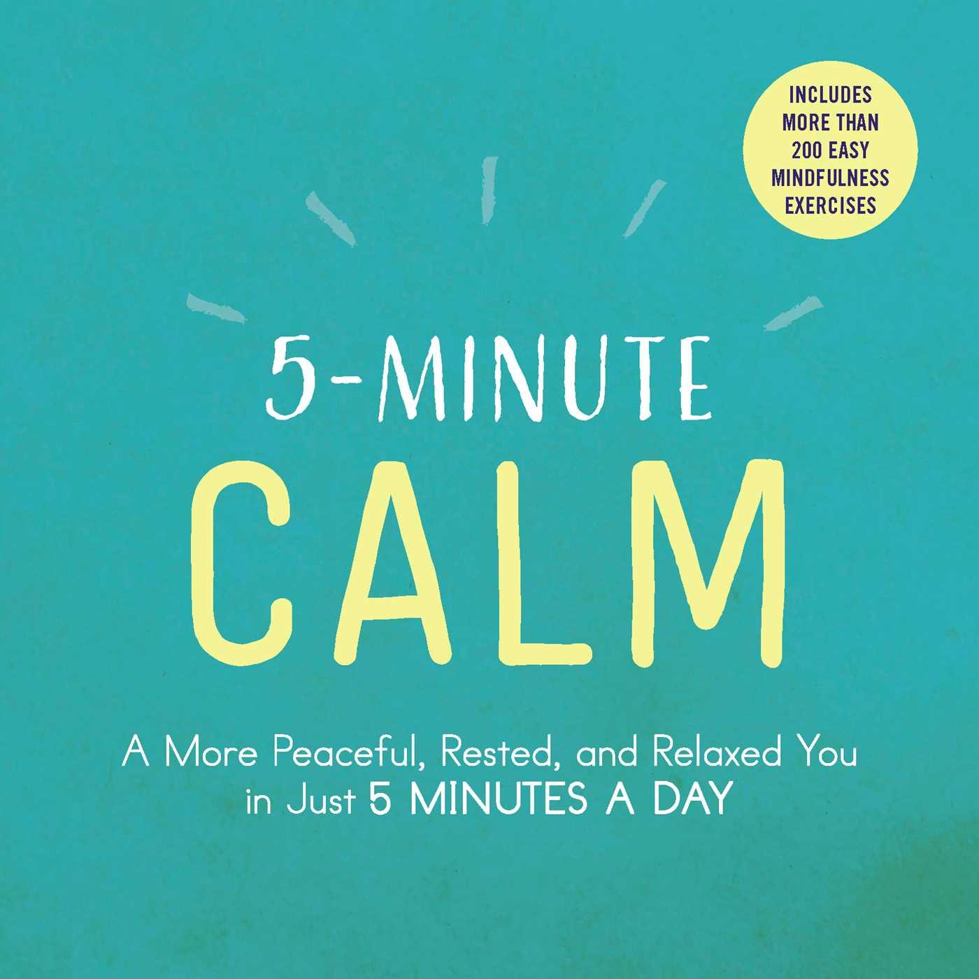 5 minute calm 9781507206300 hr