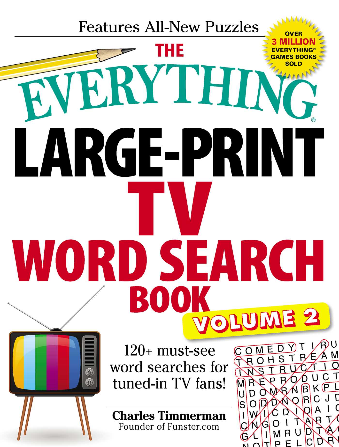 The everything large print tv word search book volume 2 9781507206423 hr