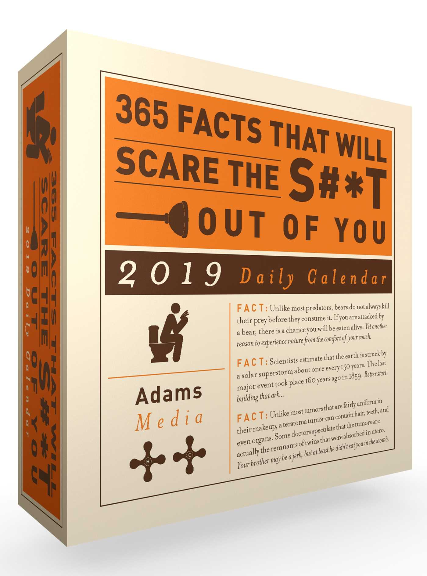 365 facts that will scare the s t out of you 2019 daily calendar 9781507207710 hr