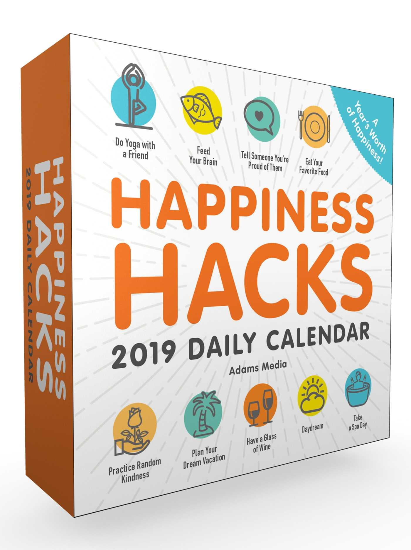 A Year Of Happiness happiness hacks 2019 daily calendar - book summary & video