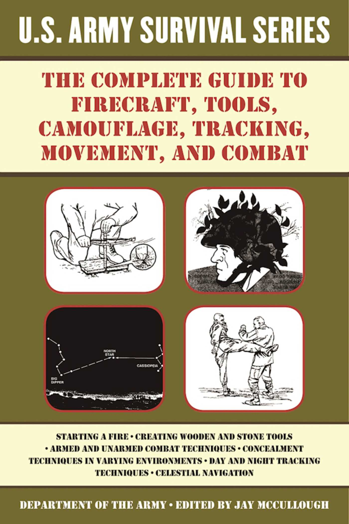 Book Cover Image (jpg): The Complete U.S. Army Survival Guide to Firecraft,  Tools, Camouflage, Tracking, Movement, and Combat