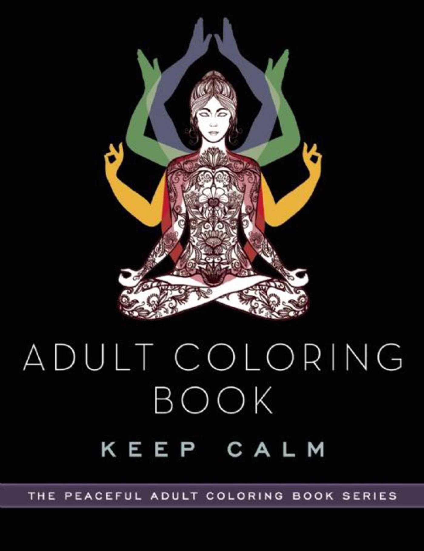 adult coloring book keep calm peaceful adult coloring book series