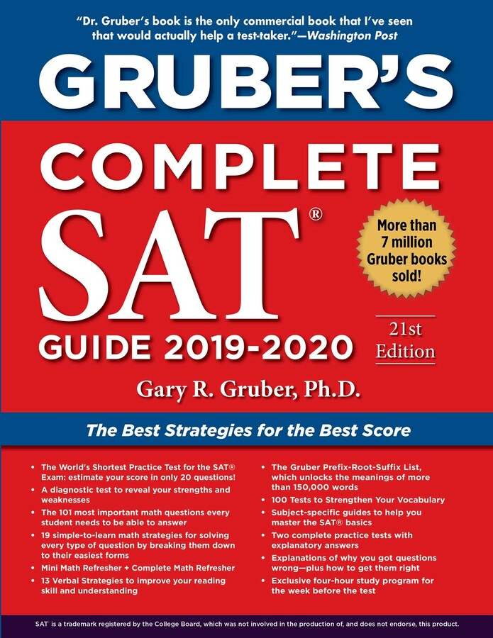 Gruber S Complete SAT Guide 2019 2020 Book By Gary Gruber