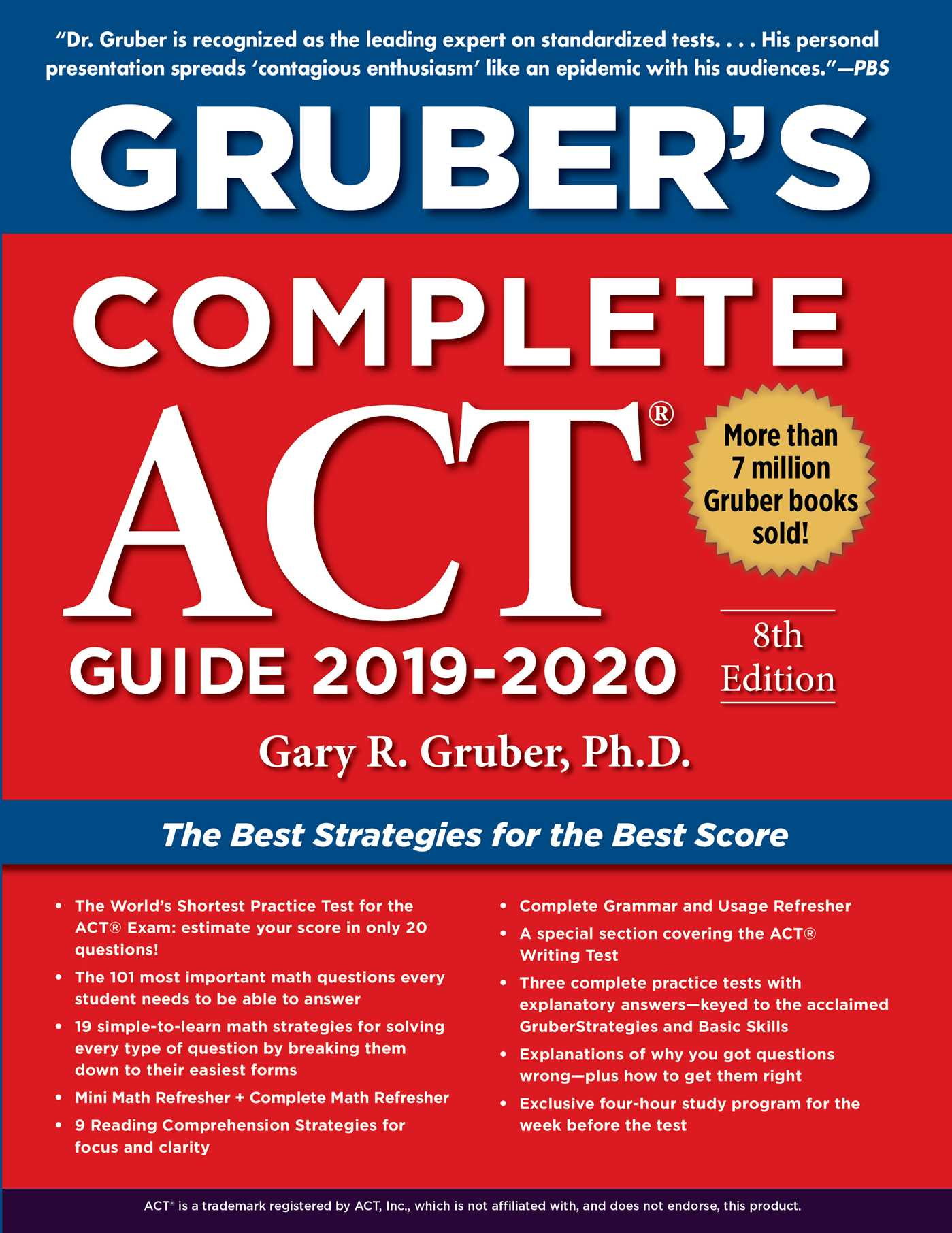 Gruber's Complete ACT Guide 2019-2020 | Book by Gary Gruber