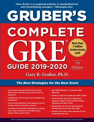 Gre Study Book >> Gruber S Complete Gre Guide 2019 2020 Book By Gary Gruber