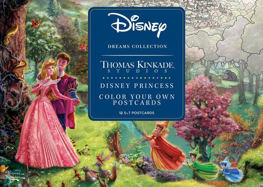 Disney Dreams Collection Thomas Kinkade Studios Disney Princess Color Your  Own P Book By Thomas Kinkade Official Publisher Page Simon & Schuster