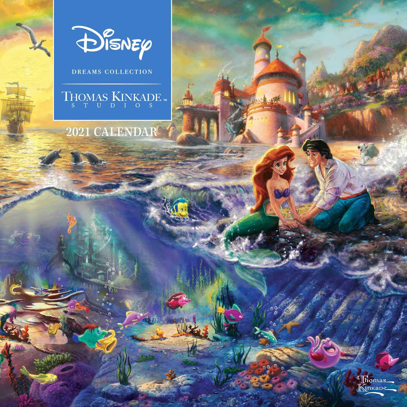 Thomas Kinkade Disney Calendar 2021 Disney Dreams Collection by Thomas Kinkade Studios: 2021 Wall