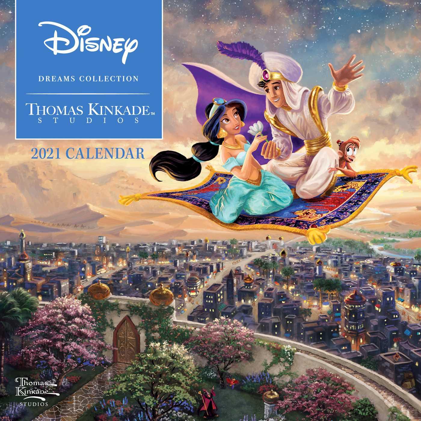 Thomas Kinkade Disney Calendar 2021 Disney Dreams Collection by Thomas Kinkade Studios: 2021 Mini Wall