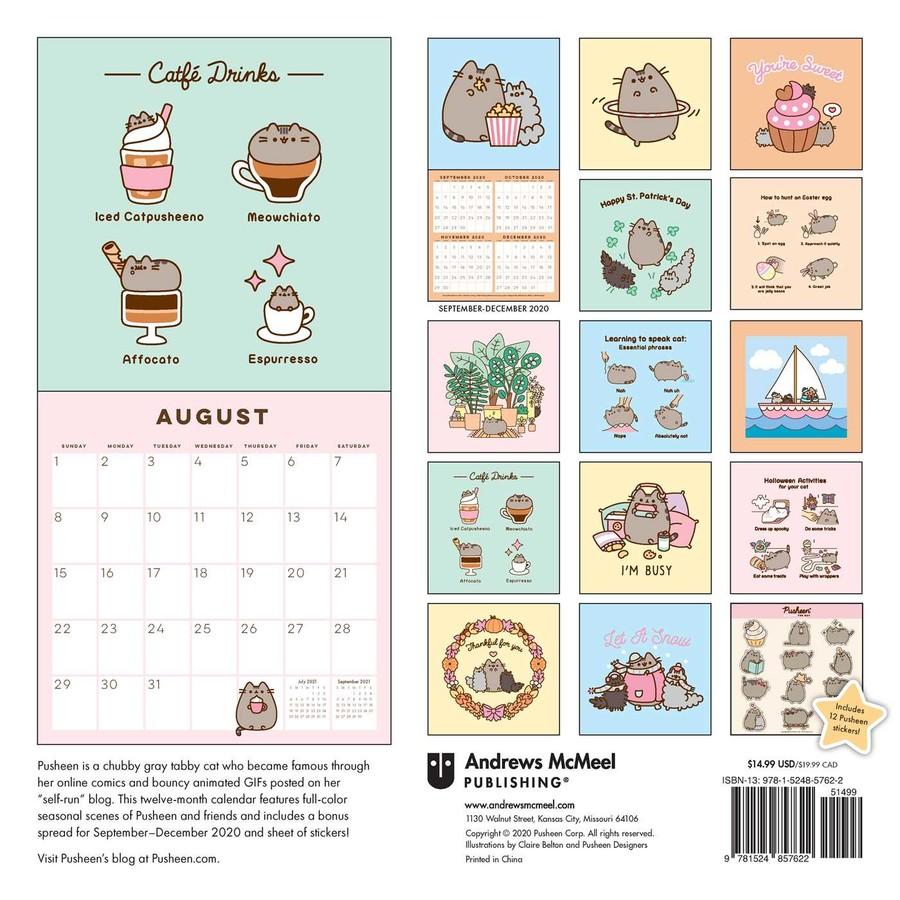 Pusheen 2021 Wall Calendar   Book Summary & Video   Official