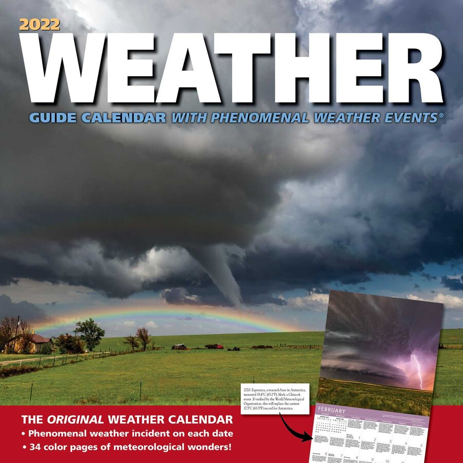 2022 Events Calendar.Weather Guide 2022 Wall Calendar Book Summary Video Official Publisher Page Simon Schuster