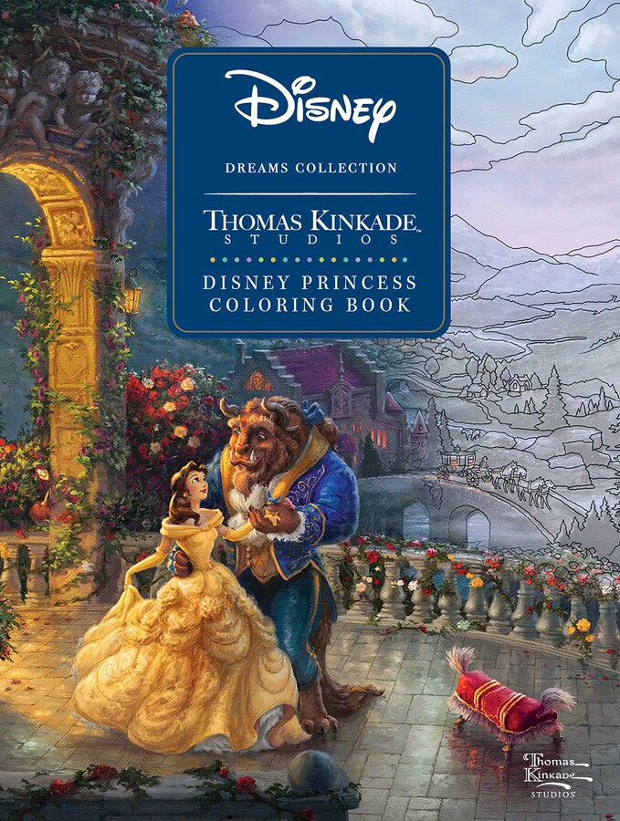 Disney Dreams Collection Thomas Kinkade Studios Disney Princess Coloring  Book Book By Thomas Kinkade Official Publisher Page Simon & Schuster