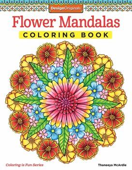 Flower Mandalas Coloring Book