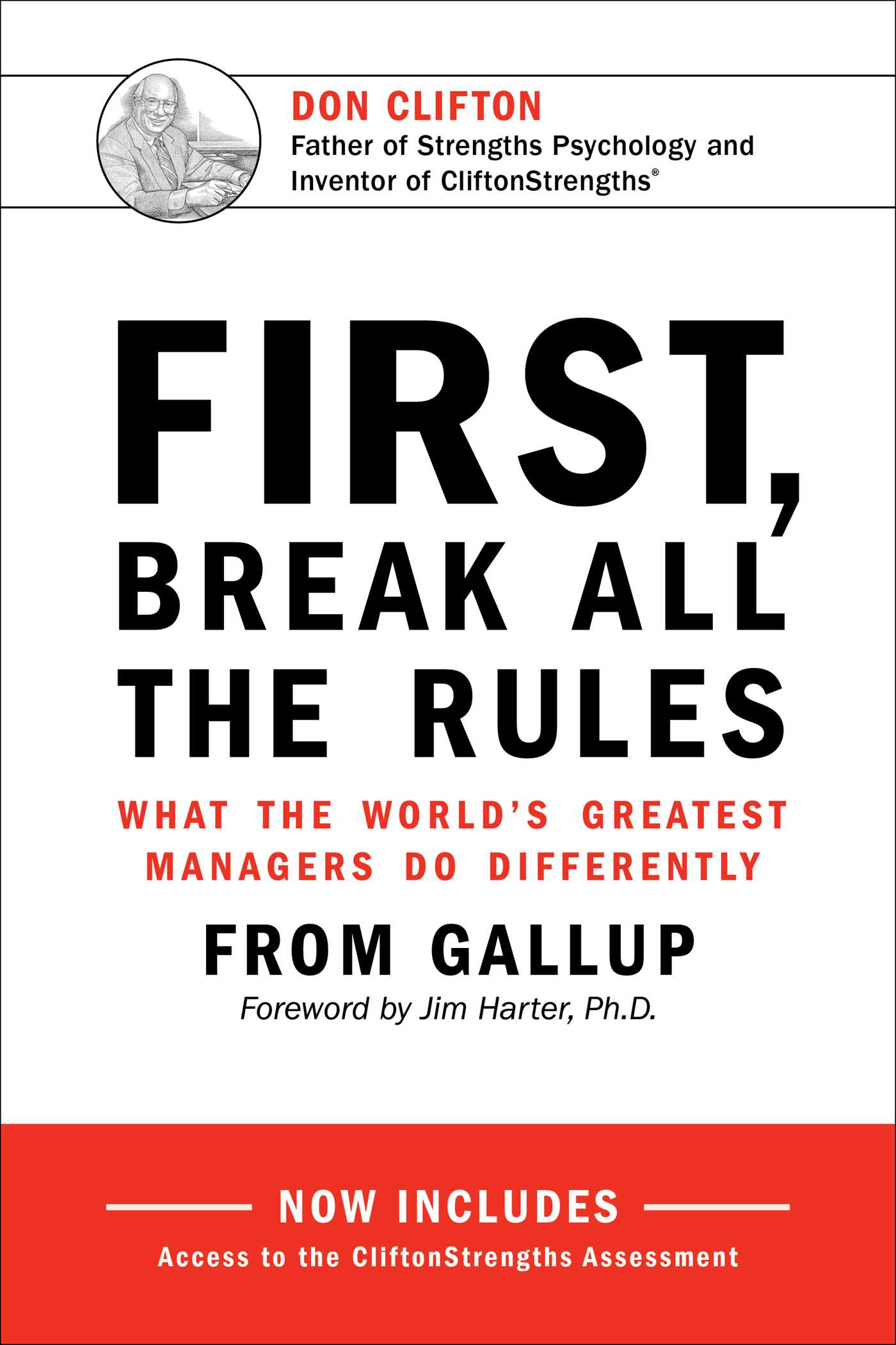 first break all the rules book by gallup james k harter