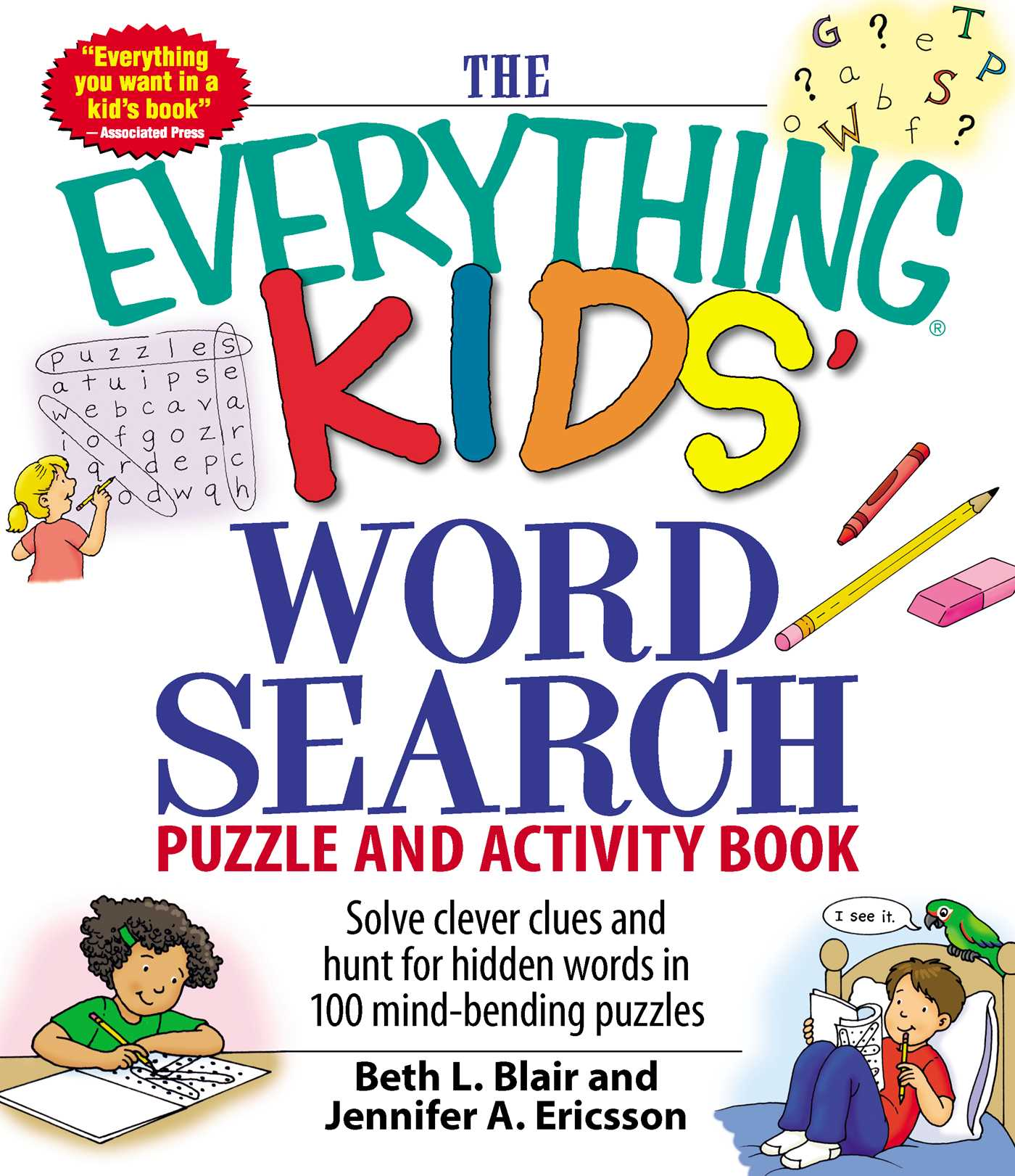 The Everything Kids Word Search Puzzle And Activity Book 9781598695458 Hr