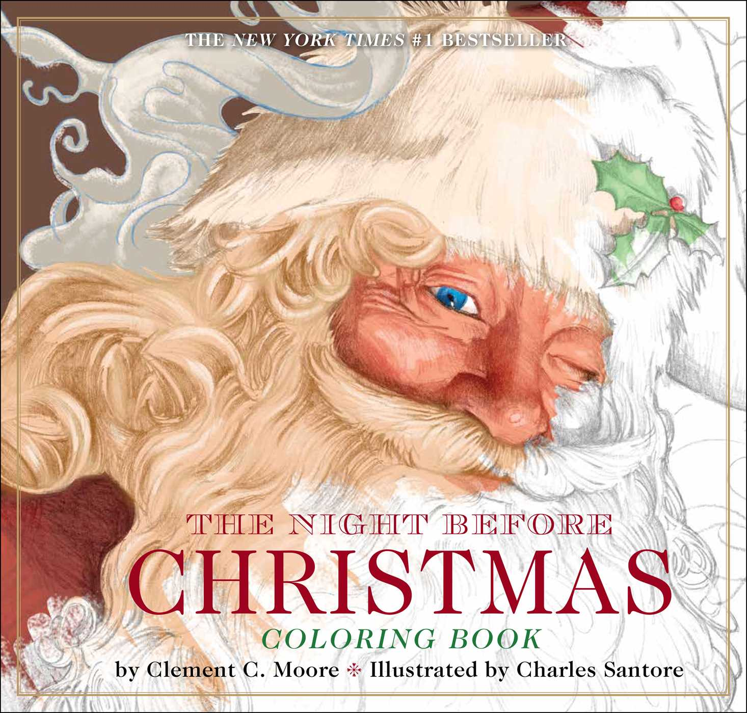 the night before christmas coloring book book by clement moore charles santore official publisher page simon schuster the night before christmas coloring