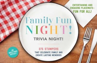 Family Fun Night Trivia Night Placemats