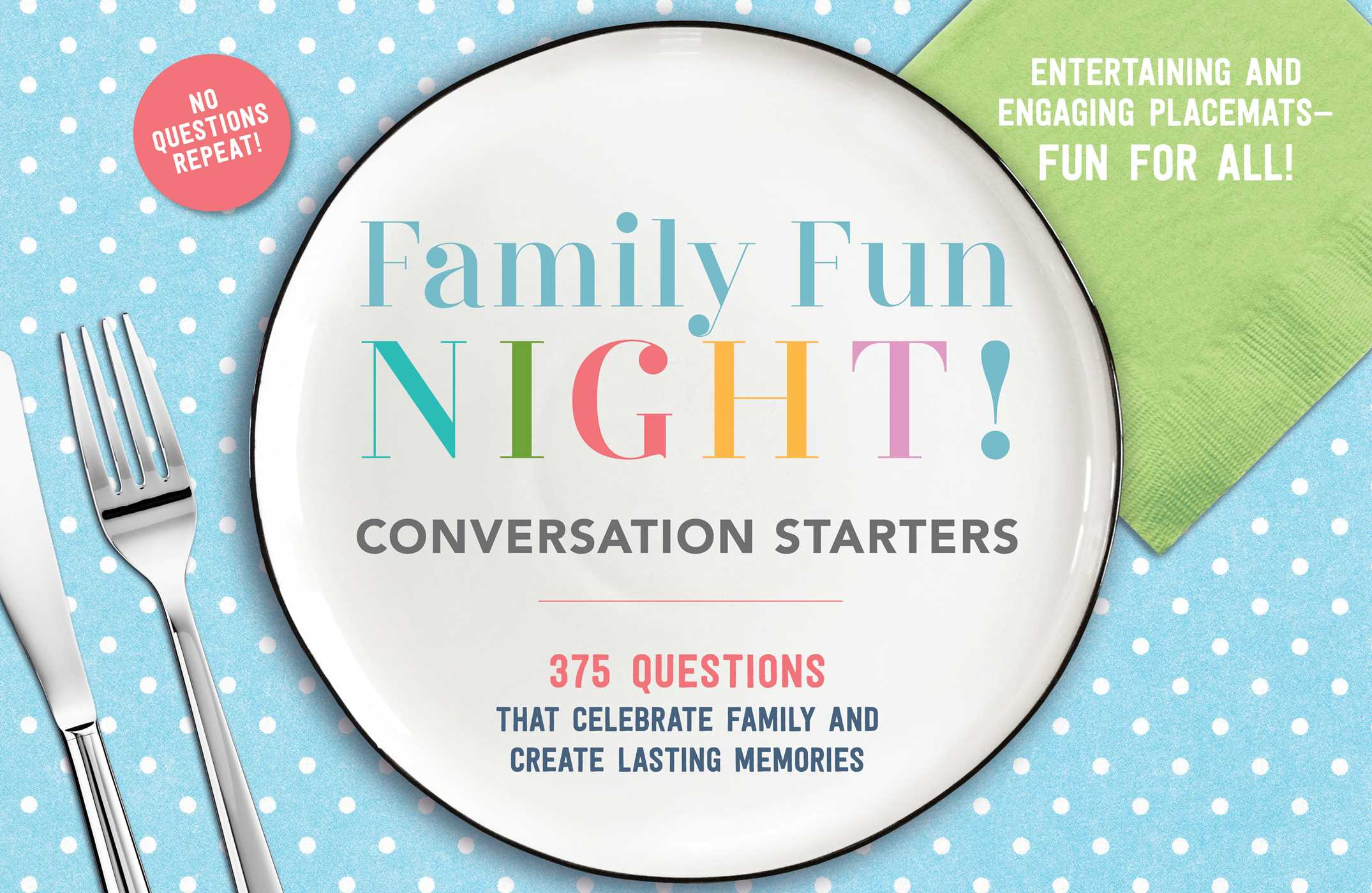 Family fun night conversation starters placemats 9781604337983 hr