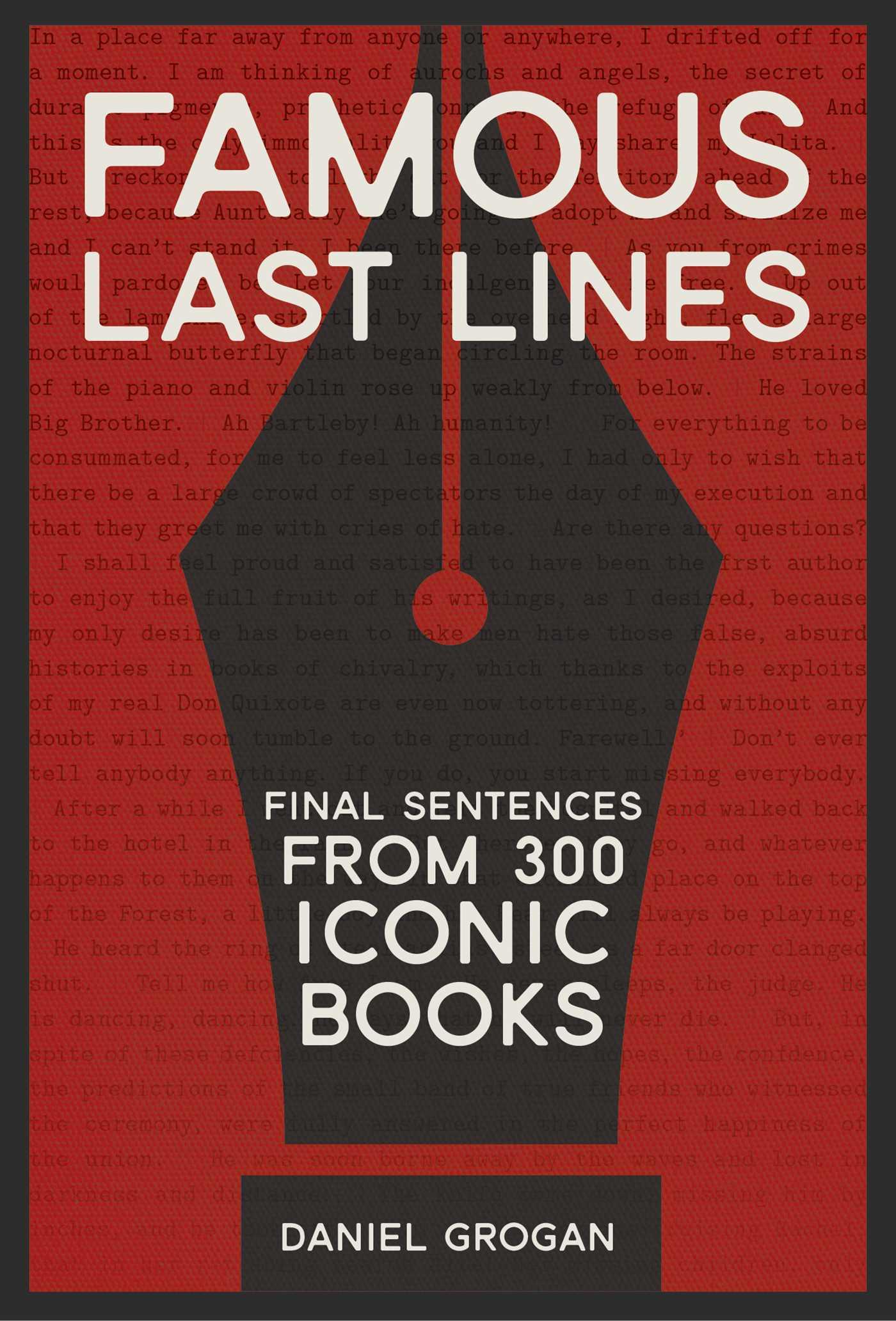 famous last lines books grogan daniel line literature history publishers publisher schuster simon