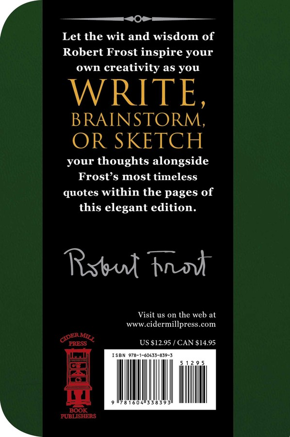800defca812f Robert Frost Signature Notebook | Book by Cider Mill Press ...