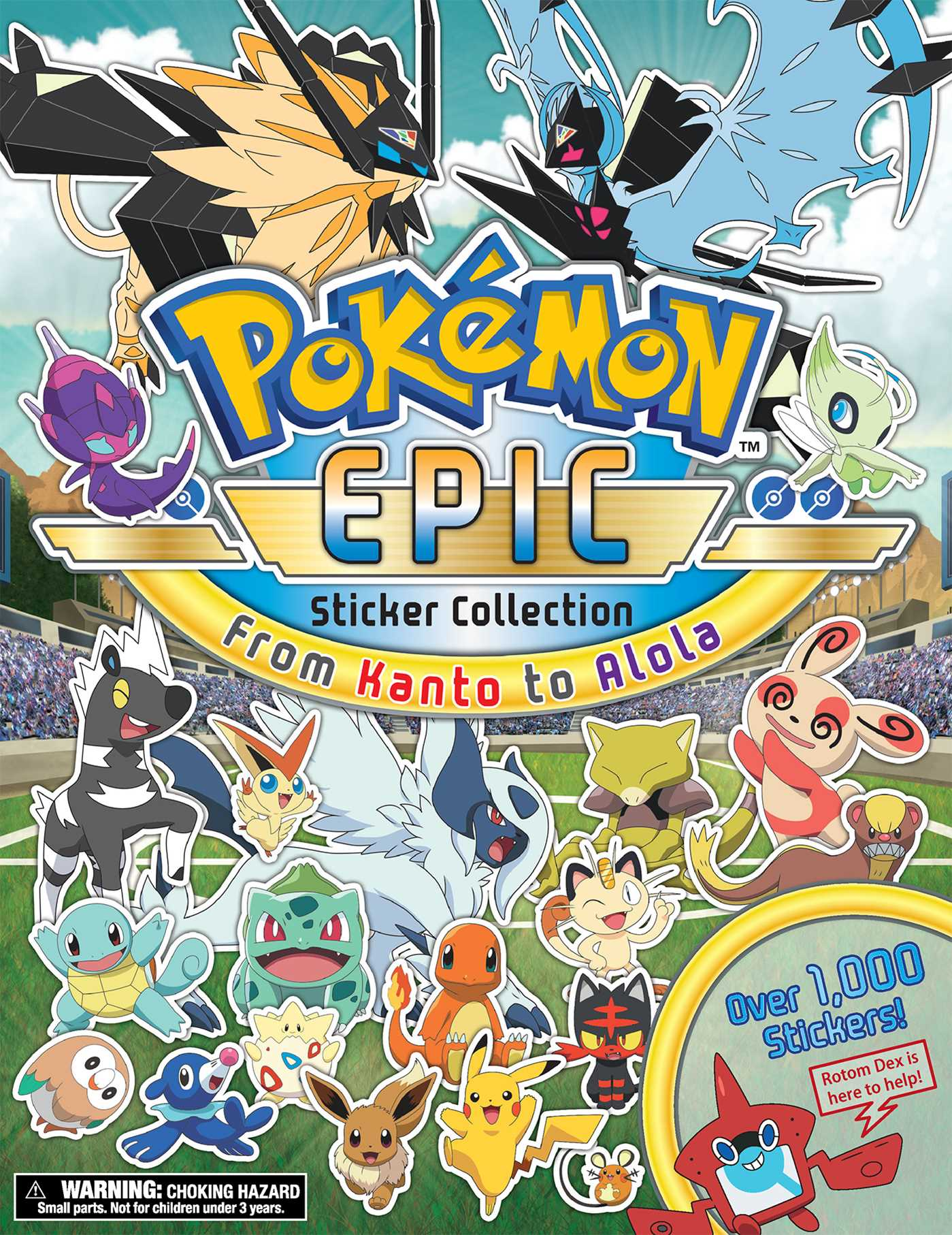 pokémon epic sticker collection from kanto to alola book by