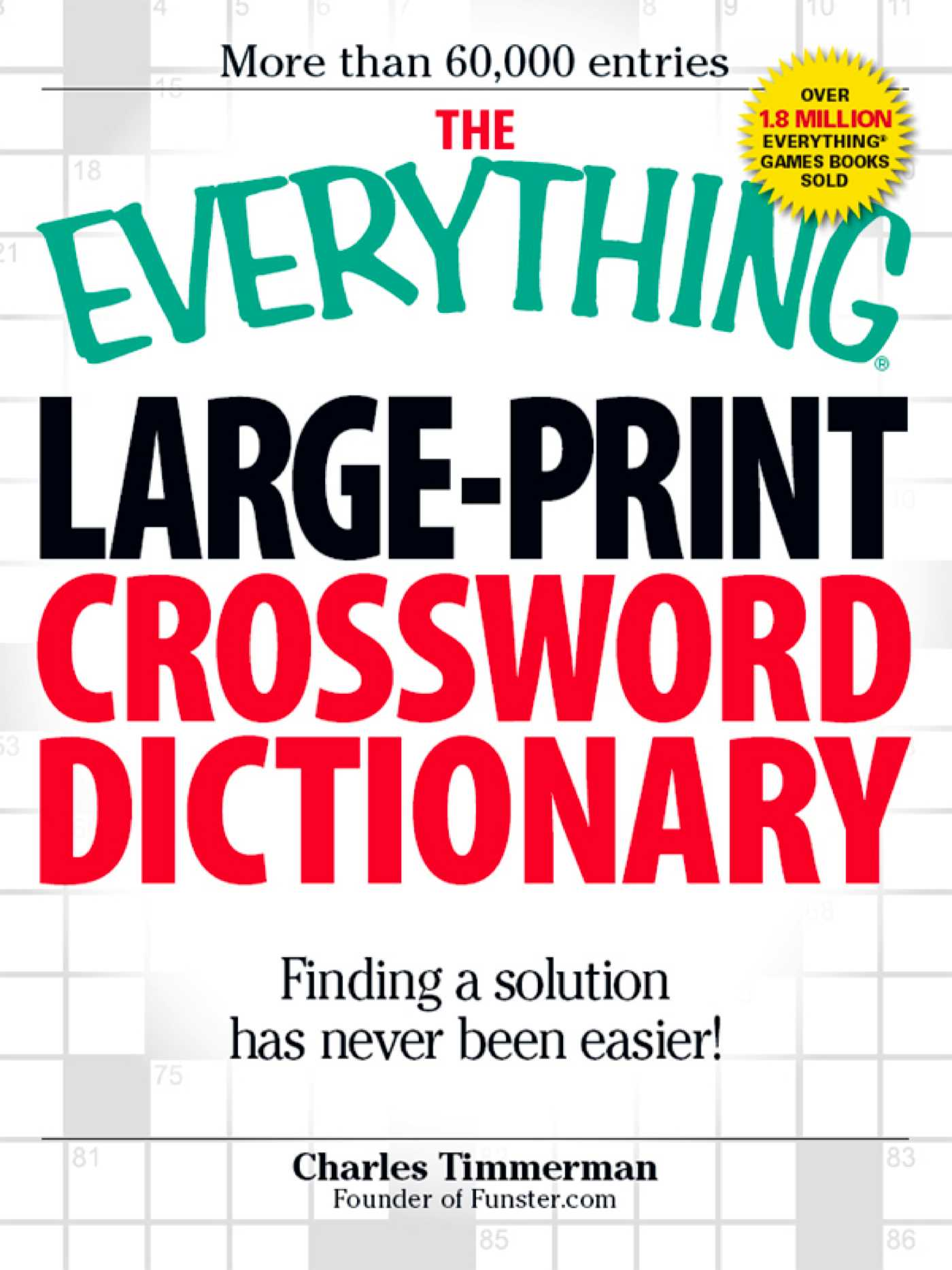 The everything large print crossword dictionary 9781605507477 hr