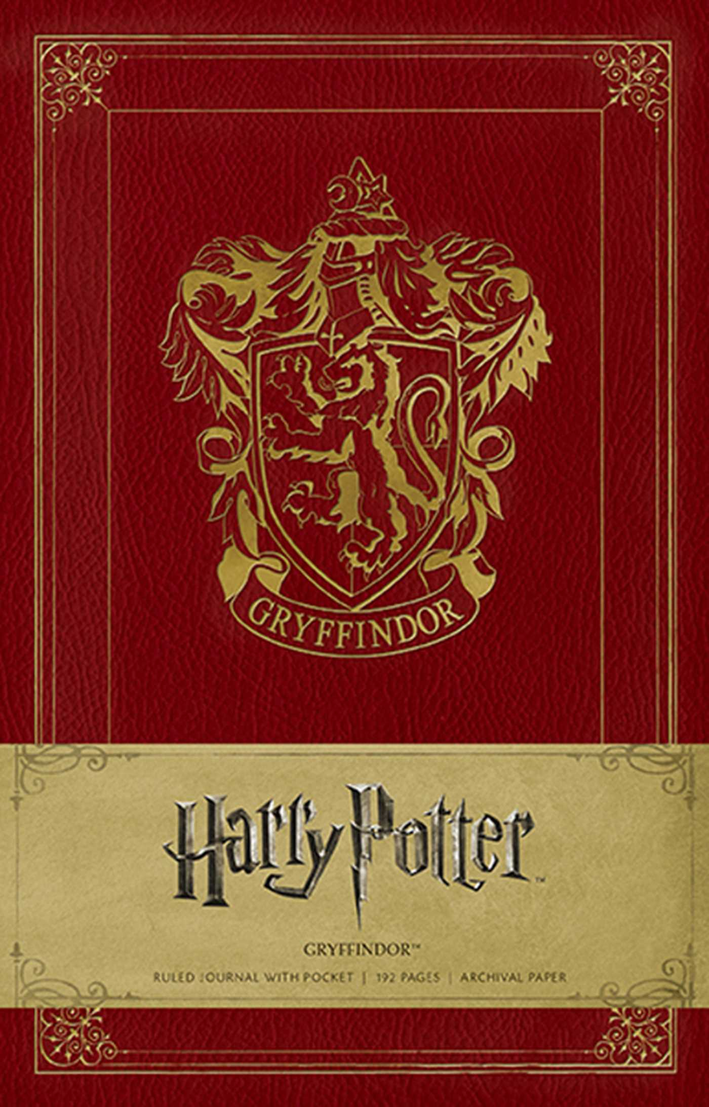 Harry Potter Gryffindor Hardcover Ruled Journal Book By
