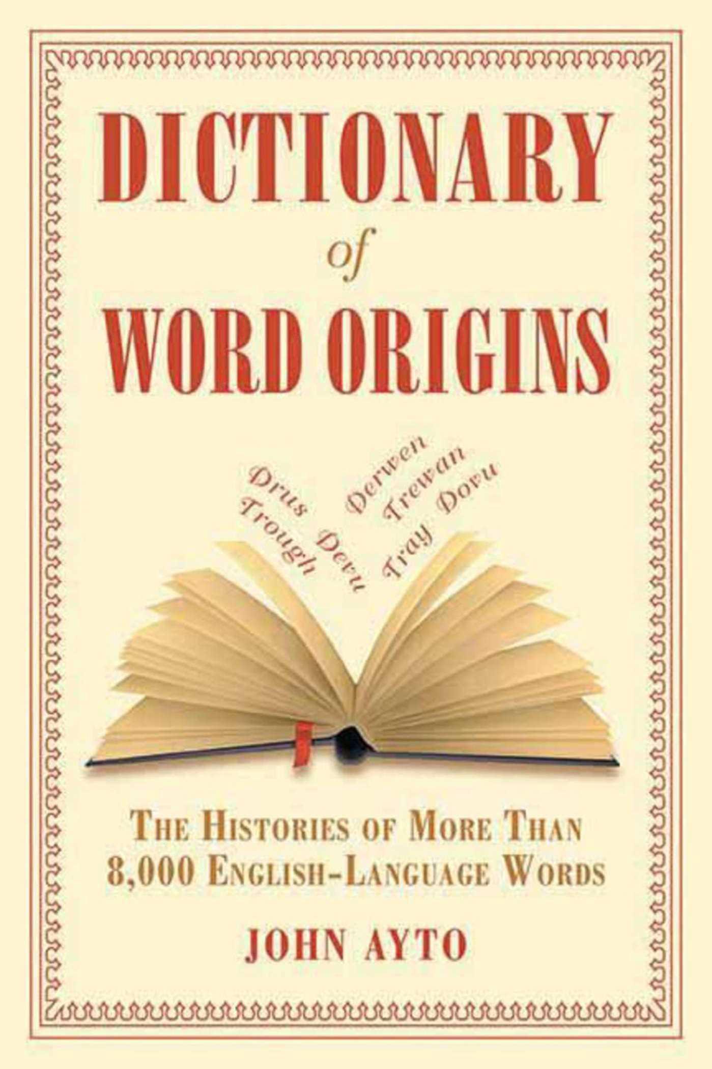 Book Cover Image (jpg): Dictionary of Word Origins