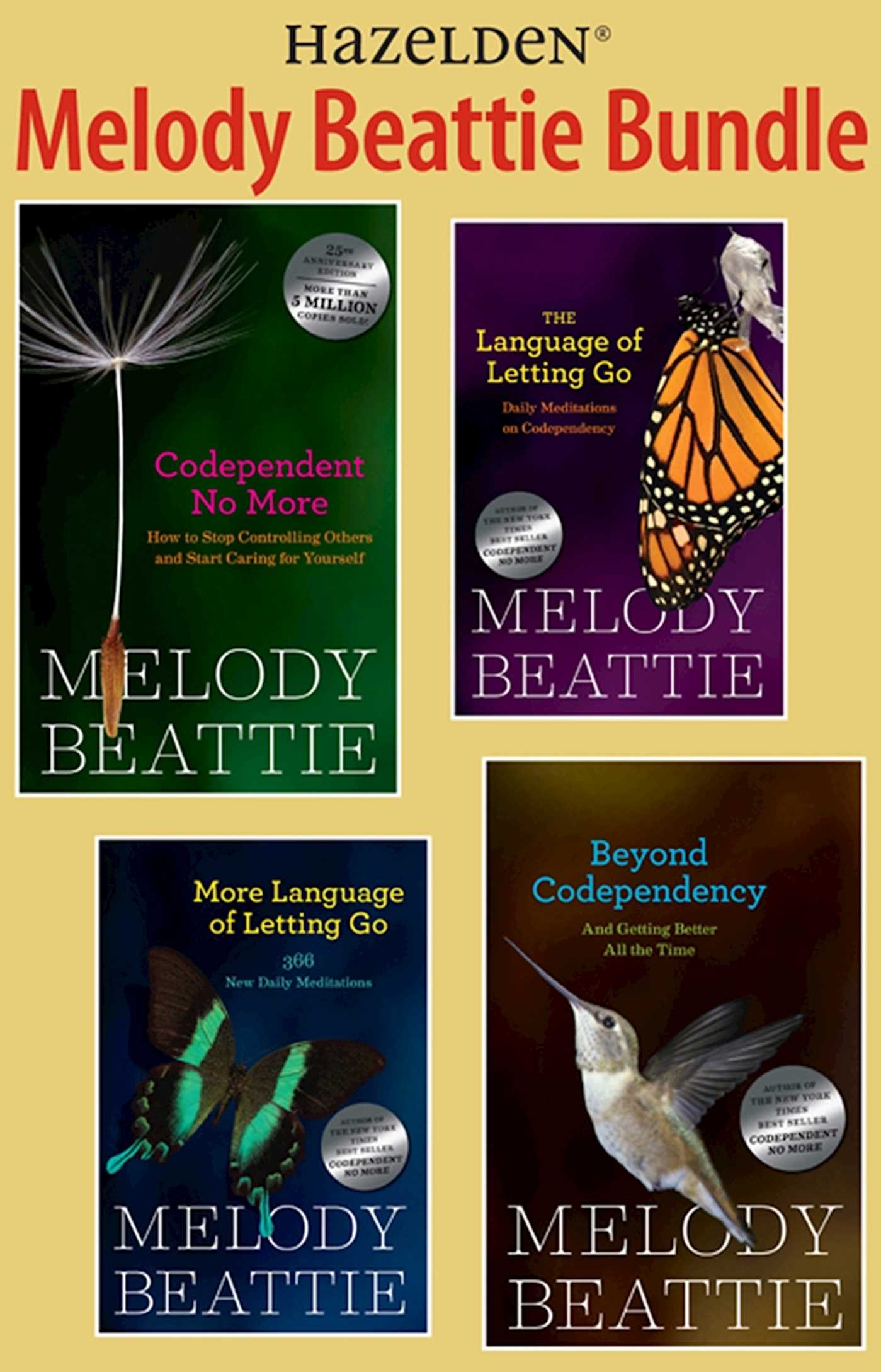 Book Cover Image (jpg): Melody Beattie 4 Title Bundle: Codependent No More  and 3 Other Best Sellers by M