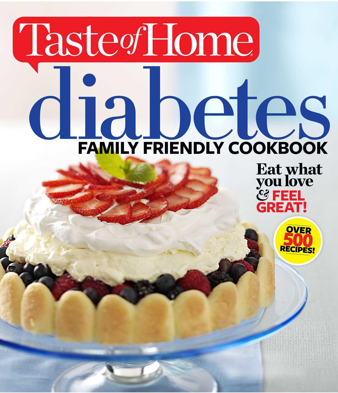 Taste of home diabetes family friendly cookbook 9781617652677 hr