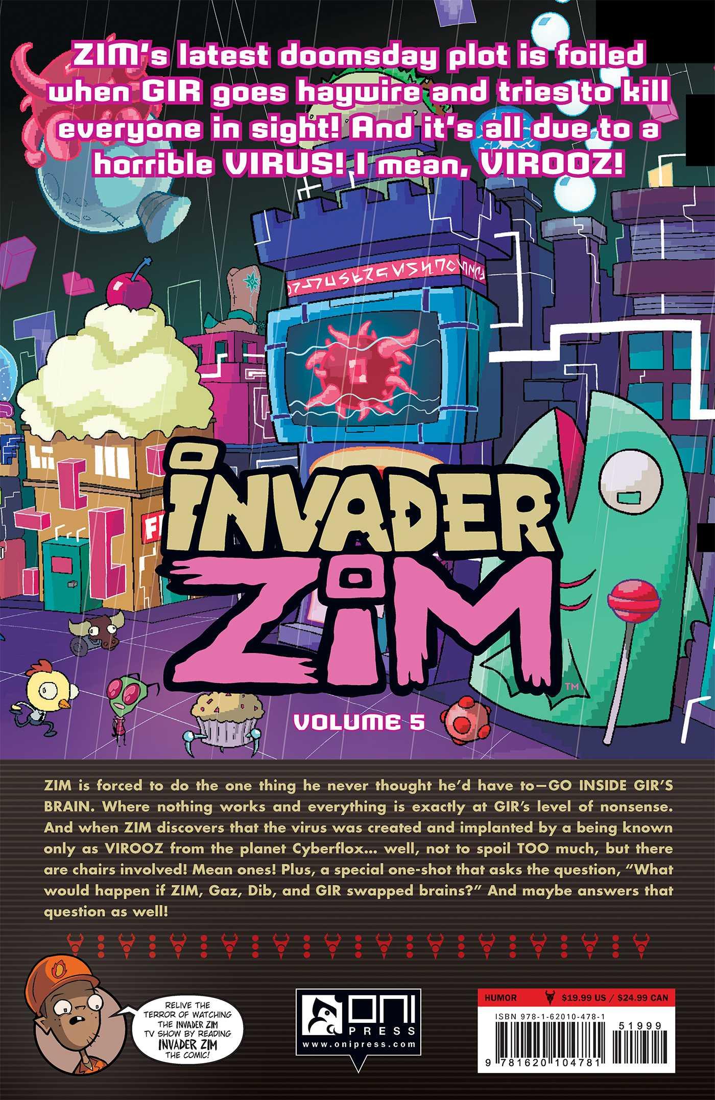 invader zim vol 5 book by eric trueheart dave crosland jhonen