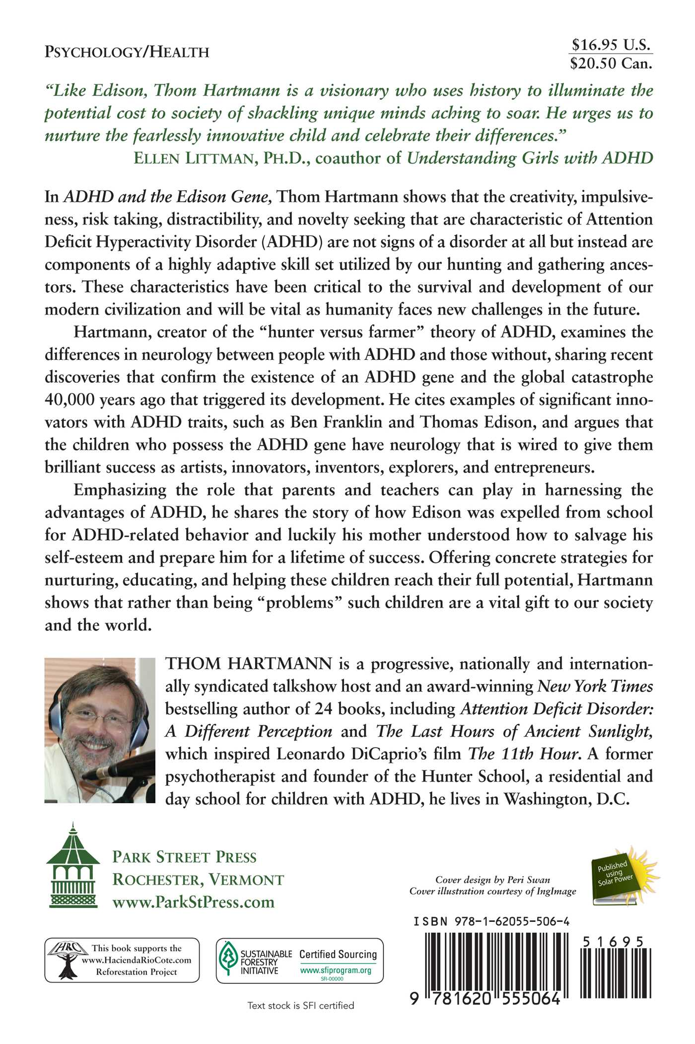 Adhd and the edison gene book by thom hartmann official adhd and the edison gene 9781620555064 hr back fandeluxe Images