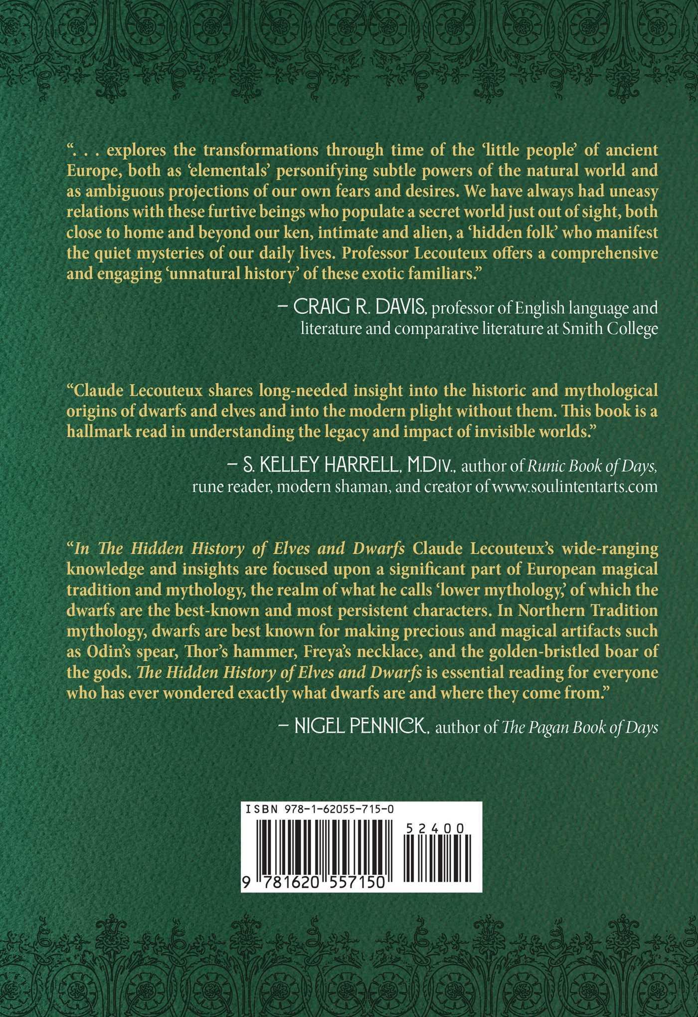 The hidden history of elves and dwarfs 9781620557150 hr back