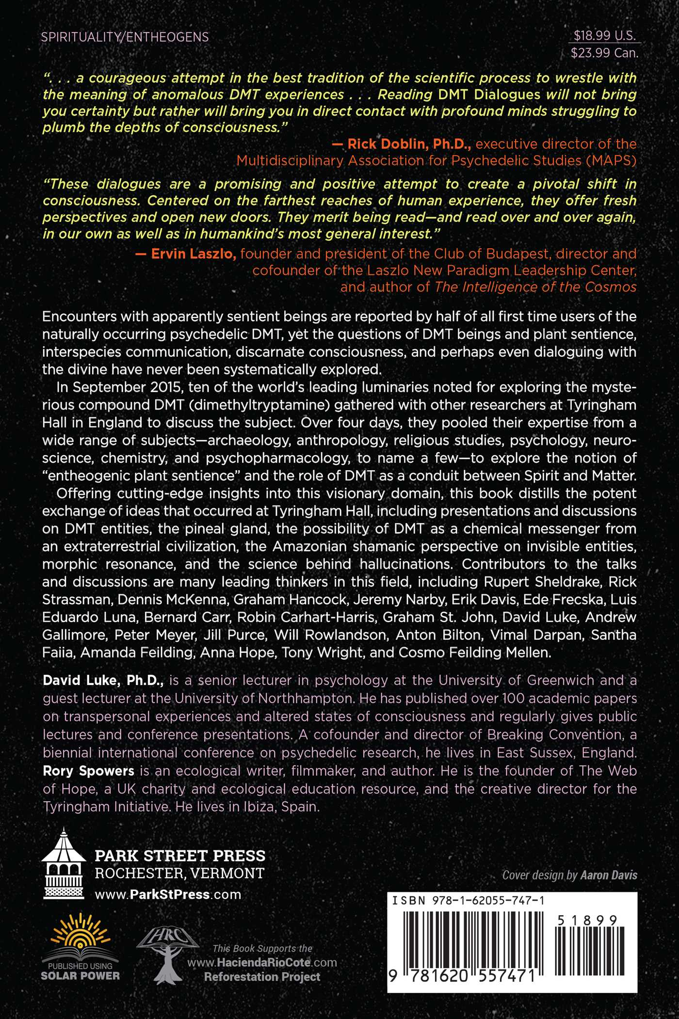 DMT Dialogues | Book by David Luke, Rory Spowers, Anton