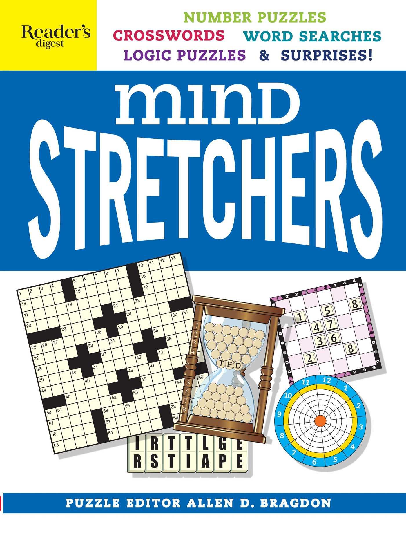 Readers Digest Mind Stretchers Puzzle Book By Allen D Logic Diagram Crossword Clue Number Puzzles Crosswords Word Searches Surprises