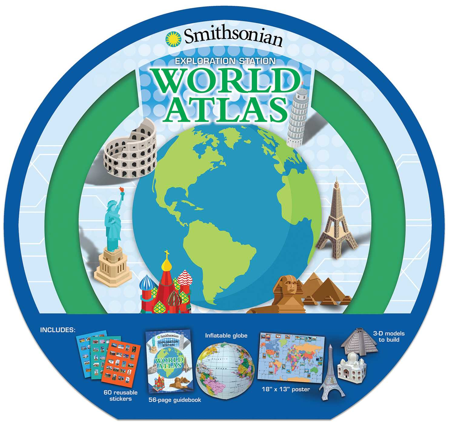 Smithsonian exploration station world atlas 9781626867208 hr