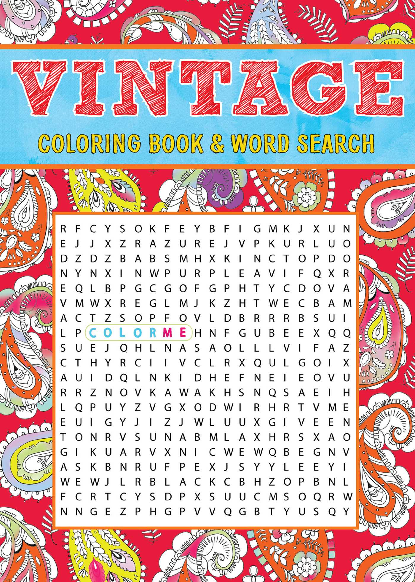 Vintage Coloring Book Word Search 9781626868731 Hr