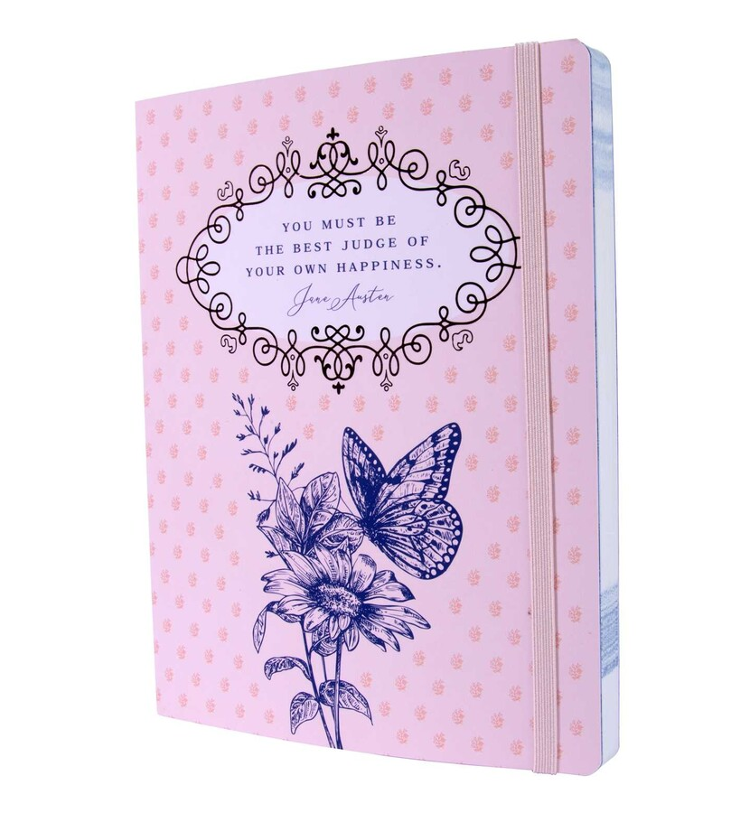 Papeterie Jane Austen (Insight editions) Jane-austen-best-judge-of-your-own-happiness-softcover-notebook-9781647220747_xlg