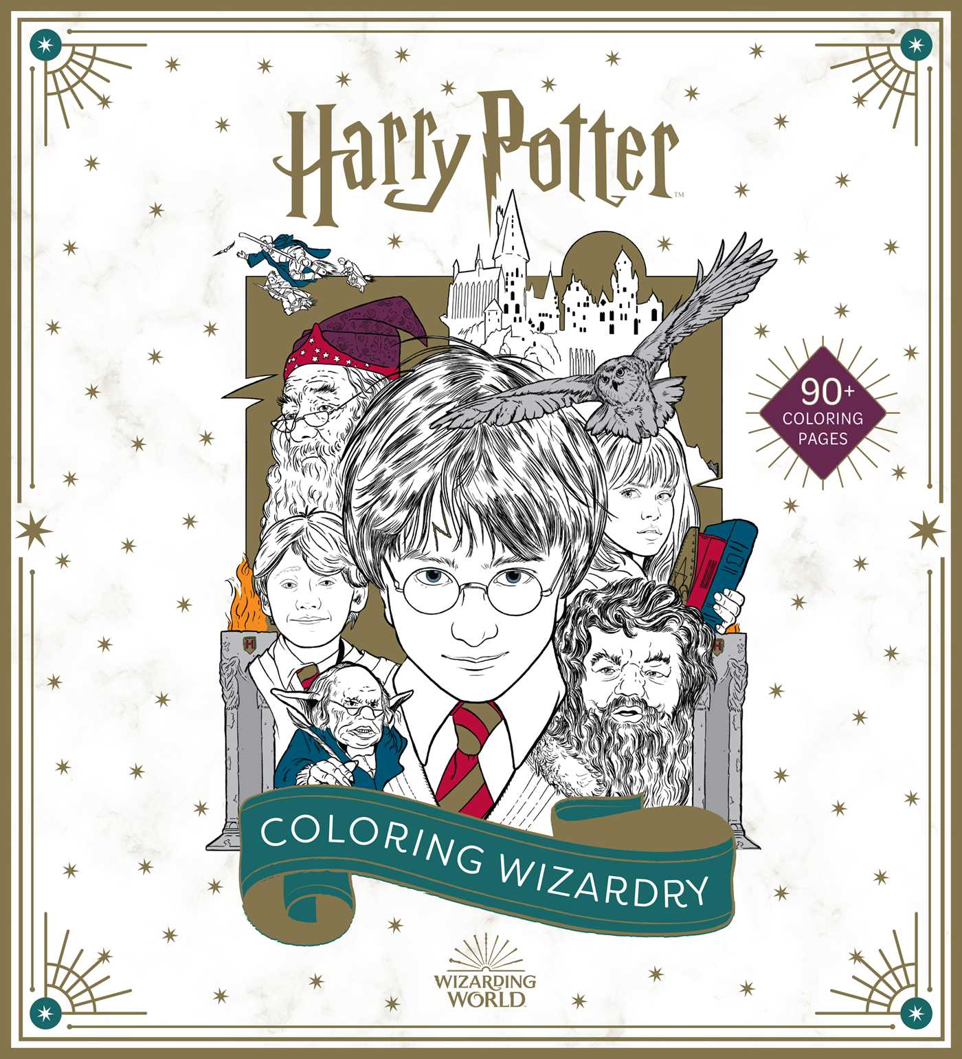 Harry Potter Coloring Wizardry Book By Insight Editions Official Publisher Page Simon Schuster