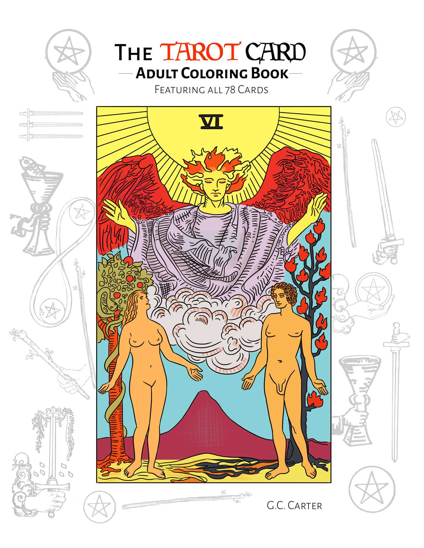 The tarot card adult coloring book 9781682612644 hr