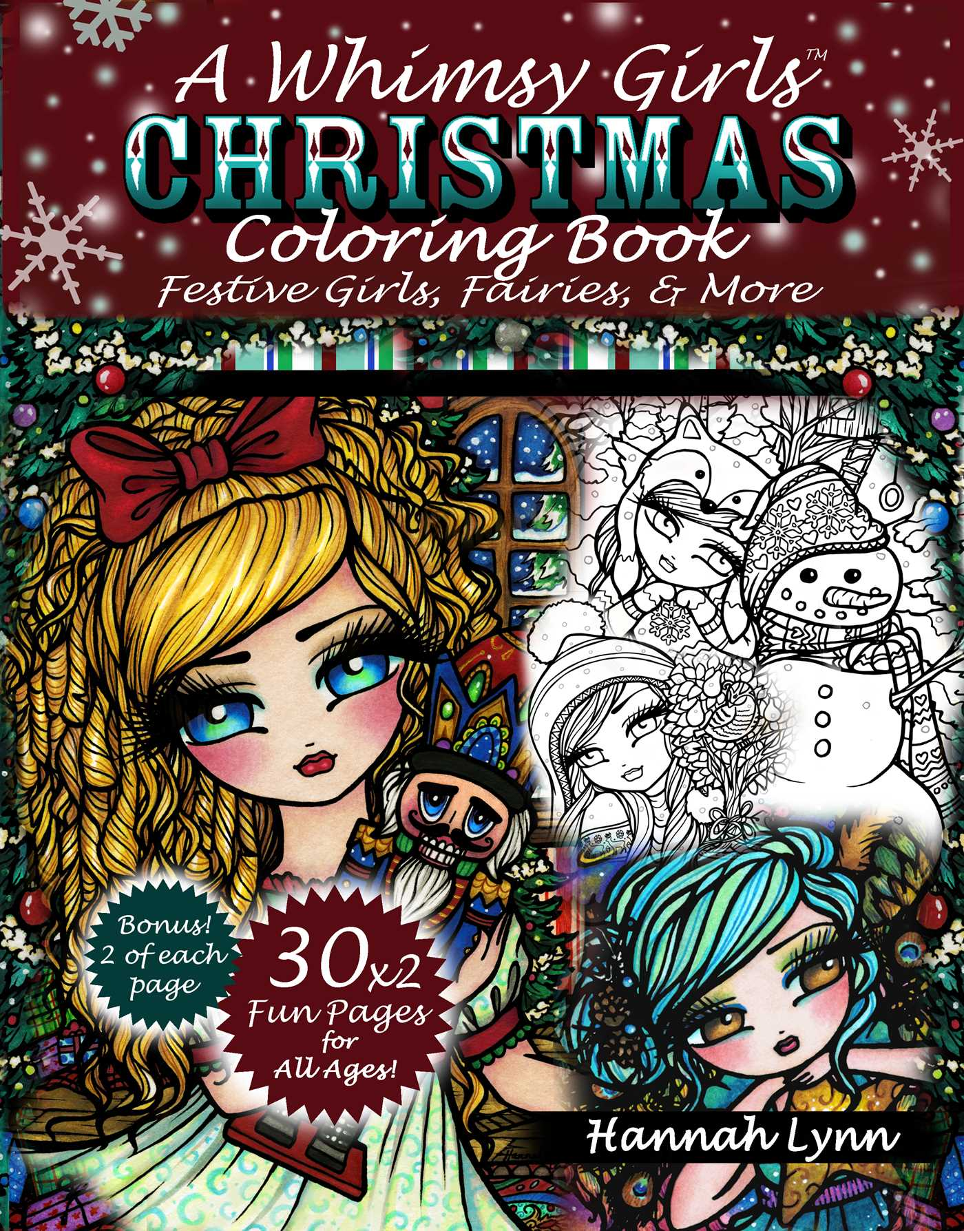A Whimsy Girls Christmas Coloring Book | Book by Hannah Lynn ...