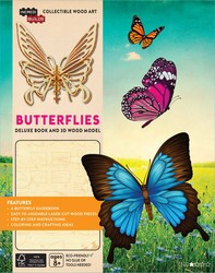 IncrediBuilds: Butterflies Deluxe Book and Model Set
